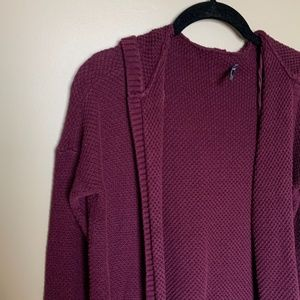 American Eagle Outfitters burgundy knit cardigan S